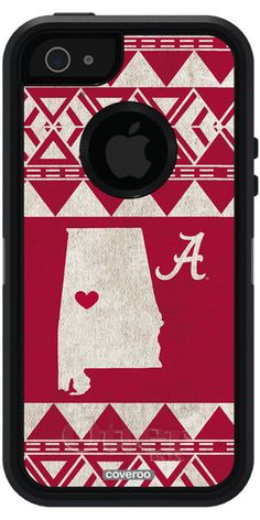 Alabama - State Love Alabama design on OtterBox® Defender Series® Case for iPhone 5s /5