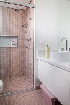 Pia banheiro e nicho box Marmistone Bianco Prime - suite menina