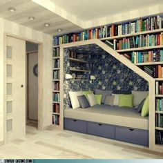 Bookcase of the Day: Nestled In