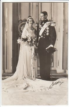 Wedding of Frederick, Crown Prince of Denmark and Iceland (later King Frederik IX. of Denmark) and Princess Ingrid of Sweden (later Queen Consort of Denmark)