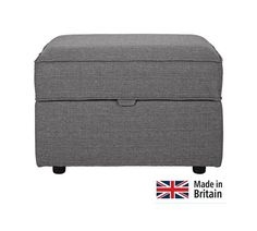 Buy Collection Ashdown Footstool with Storage - Grey at Argos.co.uk, visit Argos.co.uk to shop online for Footstools, Living room furniture, Home and garden