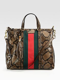 Gucci Rania Python Top Handle Bag