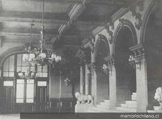 Foyer del Segundo Teatro Municipal Victoria, Año 1895                                                          Fuente:  Memoria Chilena