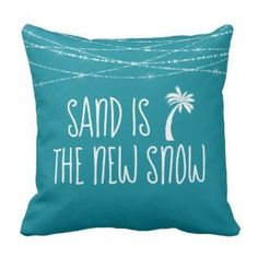 Cute Teal Tropical Sand is the New Snow Palm Tree Throw Pillow by NauticalBoutique ad Tropical Home Decor, Tropical Houses, Coastal Decor, Tropical Furniture, Tropical Interior, Tropical Colors, Coastal Style, Wine Bottle Crafts, Mason Jar Crafts