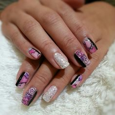 pink purple heart and rose with sparkle glitter gel nail  #nails #nail #fashion #style #TagsForLikes #cute #beauty #beautiful #instagood #pretty #girl #girls #stylish #sparkles #styles #gliter #nailart #art #opi #photooftheday #essie #unhas #preto #branco #rosa #love #shiny #polish #nailpolish #pikapika_nails
