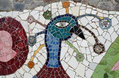 Mosaic in the Nek Chand Rock Garden. Mosaic in the Nek Chand Rock Garden (Chandigarh, Punjab, India)
