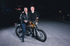 Jay and Jim Tomlinson and the 1973 Yamaha Enduro 175.