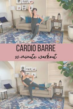 Sharing a short and sweaty barre workout you can do anywhere. All you need is some space and a water bottle. | Barre Workouts | The Fitnessista Quick Workout At Home, Workout Routines For Women, 20 Minute Workout, Barre Workout Video, Cardio Barre, Workout Videos, Pilates, Fast Workouts, Killer Workouts