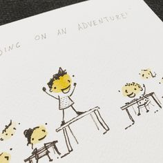 Closeup of the table announcement in Adventures In Llama Land! #art #illustration #illustrationart #adventuresInLlamaLand #storytime #story #watercolor #adventure #childrensillustration #yellow