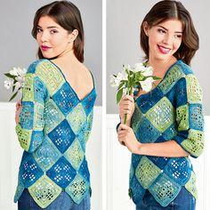 Пуловер из квадратов