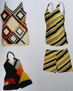 Bathing suits, 1924-29 -Sonia Delaunay