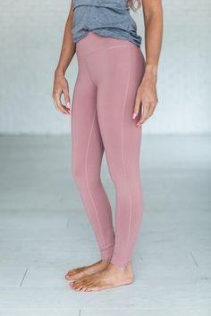 cd49f4065e33d4 Dusty Pink Leggings Black Leggings Outfit, Pink Leggings, Workout Attire, Workout  Wear,