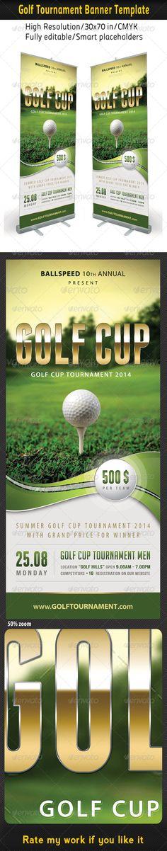 Golf Banner RollUp Template