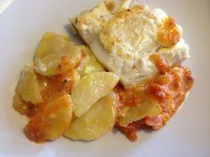 LA COCINA DE MAMI: BACALAO GRATINADO CON PATATAS PANADERA My Recipes, Potato Salad, Ethnic Recipes, Food, Gratin, Red Lentil Soup, Potatoes, Pastries, Cooking