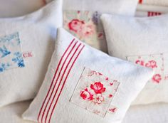 lavender pillow made with vintage french textiles by petitsdetails, €16.50
