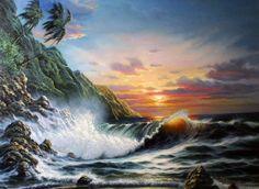 "Original Painting ""Sunset Magic"" by  Arozi"