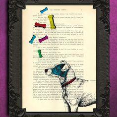 Jack russell dog illustration - dog art print