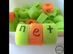 Pool Noodle CVC Words Activity - Planning Playtime