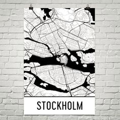 Stockholm Sweden Map, Art, Print, Poster, Wall Art From $29.99 - ModernMapArt