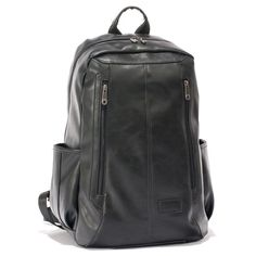 2016 Men Casual Backpacks PU Teenagers' Leather School Bags Students Backpack 15.6inch Laptop Backpack Women Travel Bags HQB1862