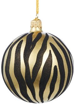 Wild zebra stripes in a glittering ornament Length, about Ceramic. Made in Italy. Christmas Rock, Glass Christmas Ornaments, Ball Ornaments, Christmas Stuff, Christmas Bulbs, Christmas Decorations, Xmas, Holiday Decor, Lord & Taylor