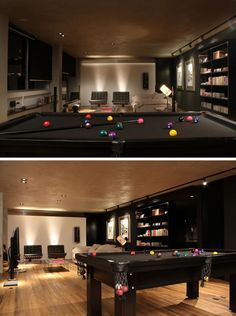 Fine Dark Media Room With Pool Table More Media Pinterest Caves Largest Home Design Picture Inspirations Pitcheantrous