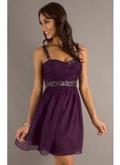 Short Sleeveless Purple Party Dress