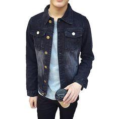 Chinese Style Retro Slim Denim Jacket for just ₹2024.39.