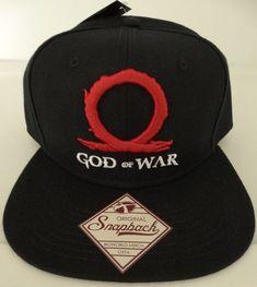 Black One Size God of War Serpent Logo Cuffed Beanie