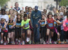 Mo Farah starting the 2014 junior race   #WestminsterMile #Running #MayBankHoliday #ThisGirlCan