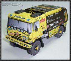 Dakar 2008 - Tatra 815 4x4 Truck Paper Model Free Download - http://www.papercraftsquare.com/dakar-2008-tatra-815-4x4-truck-paper-model-free-download.html