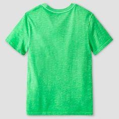 Boys' Garment Dyed Pocket T-Shirt Cat & Jack - Green XS, Boy's