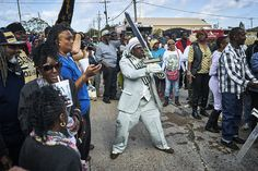 Showing the Colors.Second line, Lower 9th Ward. Hew Orleans.