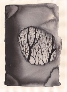 Pablo S. Herrero 'Tintas mínimas'  it gives you the feeling of looking to something further, trees