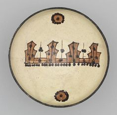 A Samanid slip-painted pottery Bowl East Persia or Transoxiana, 10th Century.