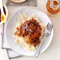Cola BBQ Chicken Recipe -My dad has been making a basic version of this family favorite for years. I've recently made it my own by spicing it up a bit with hoisin sauce and red pepper flakes. Sometimes I let the chicken and sauce simmer in my slow cooker. —Brigette Schroeder, Yorkville, Illinois