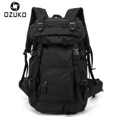 2017 OZUKO Brand Large Capacity Travel Men Backpack Casual Backpacks Oxford Cloth Waterproof and Durable Rucksack Shoulder Bag