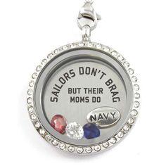 Custom Names Navy Moms Brag Charm Necklace T shirts