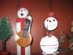 Antique German Snowmen Candy Containers.