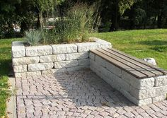 Landesgartenschu Oschatz 2006 Sitzplatz Aus Betonstein Bankplatz mit Pflanzbecke You are in the right place about large Garden Planters Here we offer you the most beautiful pictures about the Garden P Back Gardens, Small Gardens, Outdoor Gardens, Raised Flower Beds, Raised Garden Beds, Raised Beds, Paradise Garden, Raised Planter, Garden Seating
