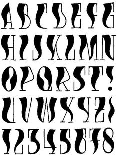 This could be used as a Halloween styler of Lettering for titles in journals or notebooks. Hand Lettering Alphabet, Calligraphy Alphabet, Calligraphy Fonts, Typography Fonts, Creative Lettering, Cool Lettering, Lettering Styles, Graffiti Alphabet, Graffiti Lettering