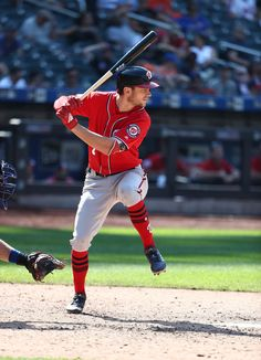 Trea Turner Photos - Trea Turner of the Washington Nationals bats against the New York Mets during their game at Citi Field on July 2018 in New York City. New York Mets Dansby Swanson, Washington Nationals Baseball, San Diego Padres, Sports Pictures, New York Mets, Atlanta Braves, World Series, Champs, Mlb