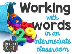 Do you need new tips and strategies for word work in your classroom? Check out this blog post filled with ideas you can use in your intermediate classroom. #WordWork