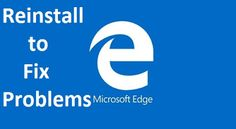 How To Reinstall Microsoft Edge In Windows 10. Here's how to fix common problems with Microsoft Edge. Edge browser crashes. Edge runs slowly and has trouble loading, Edge cuts out frequently or cannot connect, Edge is stuck in an infinite loop or other weirdness. Edge Browser Problems. how to reset Edge Browser to fix Problems. Windows 10 Tutorials, Free Ebooks, Microsoft, Manual, Infinite, Connect, Phone, Products, Book