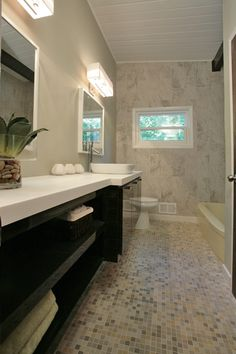 Beautiful modern bathroom inspiration! Clean lines with nice contrast.  We provide the best security cameras because we know your home is important to you: www.a2zsecuritycameras.com/