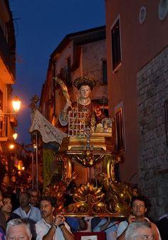 Processione - Festa di San Lorenzo, 10 agosto, San Lorenzello (BN) Italy
