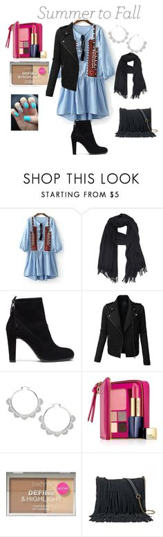 """Summer to Fall"" by unpocoboho on Polyvore featuring A.P.C., Stuart Weitzman, LE3NO, Miss Selfridge, Estée Lauder, Boohoo and SONOMA Goods for Life"