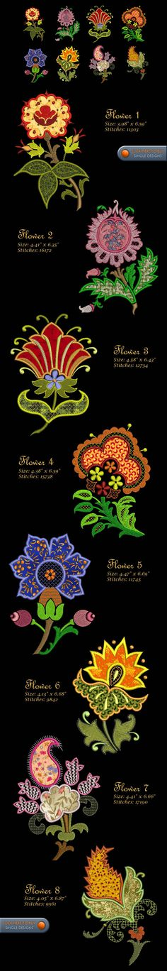 FLOWERS Embroidery Designs Free Embroidery Design Patterns Applique
