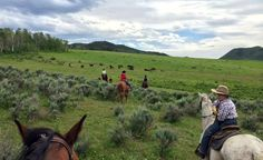 Riding at The Home Ranch in Colorado.