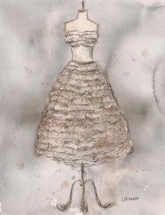 Vintage White Ruffle Dress | Lauren Maurer